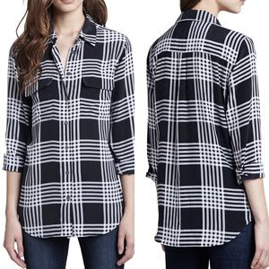 Equipment Femme silk plaid signature shirt